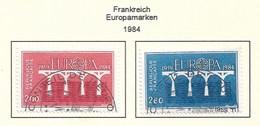 Frankreich  1984  Mi.Nr. 2441 / 2442 , EUROPA CEPT Brücken 25 Jahre Europäische Konferenz - Gestempelt / Fine Used / (o) - Europa-CEPT