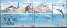 Gibraltar 1998 Yvertn° Bloc 32 *** MNH Cote 8,50 Euro Faune Marine  Année Internationale Des Océans - Gibraltar