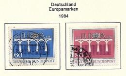 Deutschland  1984  Mi.Nr. 1210 /1211 , EUROPA CEPT Brücken 25 Jahre Europäische Konferenz - Gestempelt / Fine Used / (o) - Europa-CEPT
