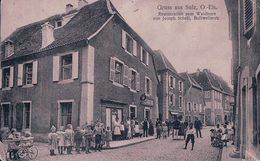 France 68, Gruss Aus Sulz, Soultz-Haut-Rhin, Restauration Zum Waldhorn Von Joseph Schell (188) Usure Et Pli D'angle - Soultz