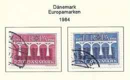 Dänemark 1984  Mi.Nr. 806/807 , EUROPA CEPT Brücken 25 Jahre Europäische Konferenz - Gestempelt / Fine Used / (o) - Europa-CEPT