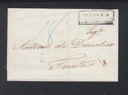 Falthülle 1857 über Wien Nach Triest Nachporto - 1850-1918 Imperium