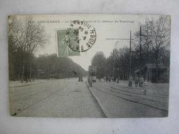 TRAMWAY - VINCENNES - La Route De Nogent Et Les Stations Des Tramways (animée) - Tramways