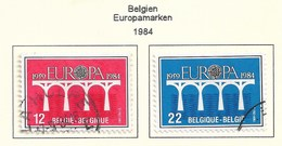 Belgien 1984  Mi.Nr. 2182 /2183 , EUROPA CEPT Brücken 25 Jahre Europäische Konferenz - Gestempelt / Fine Used / (o) - Europa-CEPT