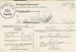 CARTOLINA POSTALE ,PRIGIONIERI DI GUERRA,GERMANIA, STAMMLAGER VI A -1944, PER BENTIVOGLIO (BOLOGNA)- - Guerre 1939-45