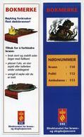 Marque-page Danois - Prévention Protection Contre Incendies Et Feux De Forêts - Numéros D'urgence - Bokmerke - Danemark - Marque-Pages