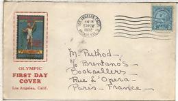 ESTADOS UNIDOS USA 1932 JUEGOS OLIMPICOS LOS ANGELES CON VIÑETA ALSO NON VALUE STAMP - Sommer 1932: Los Angeles