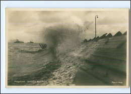 Y13093/ Helgoland Schwere Brandung  Foto AK Alfred Zerner  Ca.1925 - Helgoland