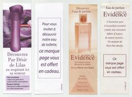 Lot De 2 Marque-page Thème Parfumerie - Beauté, Parfum, Eau De Toilette, Fragrances... Evidence, Pur Désir Lilas... - Marque-Pages