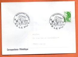 43 LE PUY EXPO. POLAIRE 1984 Lettre Entière N° AB 351 - Gedenkstempels