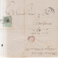 Año 1873 Edifil 133 Alegoria Carta Matasellos Rombo Malaga Membrete De Pascual Choila - 1873 1. Republik