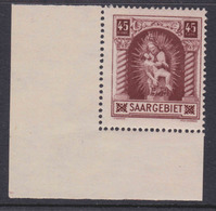 Saargebiet MiNr. 102 ** Eckrand - 1920-35 League Of Nations