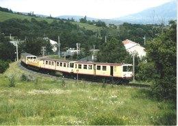 FR66 LE TRAIN JAUNE - 10 * 15 - Ligne De VILLEFRANCHE à LATOUR DE CAROL - Gare - Gros Plan - Belle - Francia