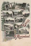W13- TCHEQUIE - TCHEQUE - GRUSS AUS MARIENBAD  - (OBLITERATION DE 1908 - 2 SCANS) - Tchéquie