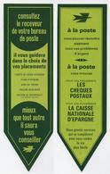 Marque-page La Poste - Vintage, Rétro, Oldschool - Chèques Postaux, Caisse Nationale D'épargne... - Marque-Pages