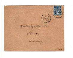 SAGE SUR LETTRE DE VINAY ISERE 1882 - 1877-1920: Periodo Semi Moderno