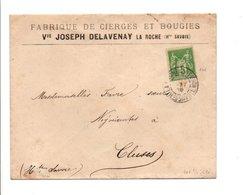 SAGE SUR LETTRE A EN TETE DE LA ROCHE SUR FORON HAUTE SAVOIE 1899 - Poststempel (Briefe)