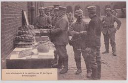 Bruxelles Etterbeek Les Allemands à La Cantine Au 9e Ligne Brodaüsgabe Boulangerie Grande Guerre Occupation Allemande - Etterbeek