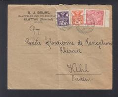 CSR Brief Bahnpost 1922 Eisenstein-Pilsen Nach Baden - Tchécoslovaquie