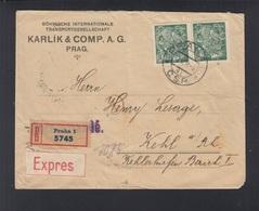 CSR Expresbrief 1922 Prag Nach Kehl - Tchécoslovaquie