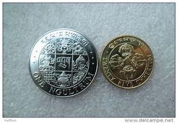 Bhutan 1 Ngultrum  And 25 Chhertum  1979  UNC - Bhutan