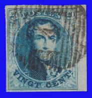 COB N° 11A- TB -Bien Margé Dont 1 Bord De Feuille - 1858-1862 Medallions (9/12)