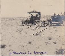 PH67 - TUNISIE - ROUTE DE GABES A KEBILLI -  DANS LA BROUSSE - CAPITAINE LE BOEUF - VERS 1906 - Guerre, Militaire