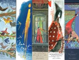 5 Marque Pages éditions APEIRON - Bookmarks - Marcapàginas - Bokenleggers - Marque-Pages