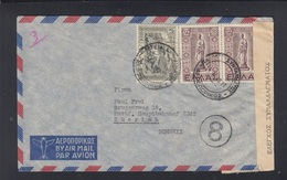 Greece Air Mail Cover To Switzerland Censor - Briefe U. Dokumente