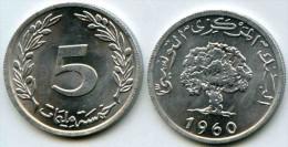 Tunisie Tunisia 5 Millim 1960 Alu KM 282 - Tunisie