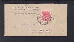 Niederlande Streifband 1921 Schagen Nach Schweiz - Briefe U. Dokumente