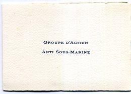 CARTE DE VOEUX MARINE  GROUPE D ACTION ANTI SOUS MARINE  LE HAVRE - Régiments