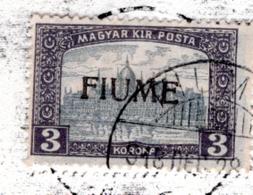 1918 - FIUME - Mi. 23I  - USED - AG.358.3501 - Fiume