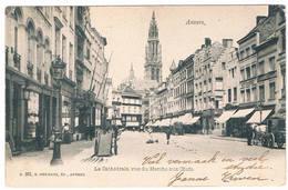 .Antwerpen (Anvers) - Le Cathédrale,vue Du Marché. 19..(Geanimeerd) - Antwerpen