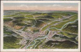 AK Jena Und Umgebung Aus Der Vogelschau, Gelaufen 1916 - Jena
