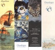 4 Marque Pages éditions CHANDEIGNE- Bookmarks - Marcapàginas - Bokenleggers - Marque-Pages