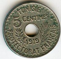 Tunisie Tunisia 5 Centimes 1919 KM 242 - Tunisie
