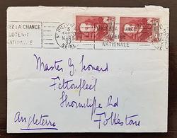 FRANCE Yvert N°335 Corneille Sur LETTRE Cachet  NEUILLY Pour FOLKESTONE (Angleterre 3/03/1937) - Marcophilie (Lettres)
