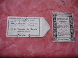 Em Boyaval Pharmacien Roubaix Rue De Lannoy  Lot De 2 Etiquette Potion Lorraine Et Sachet Bi Carbonate - France