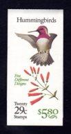ETATS-UNIS 1992 - Carnet Yvert C 2039 - Scott #2646a - NEUF** MNH - Faune, Oiseaux-mouches - 1981-...