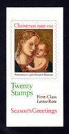 ETATS-UNIS 1991 - Carnet Yvert C 1993a - Scott #2578a - NEUF** MNH - Noël, La Vierge Et L'enfant - 1981-...
