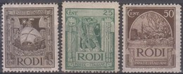 Italia Colonie Egeo 1932 Selezione 3v SaN°57+59+61 MLH/* Vedere Scansione - Ägäis