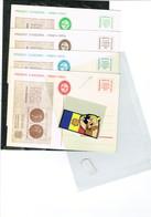 4 Doc. Vegueria Andorra  Postals INFO Publi.bloc Diff.coleurs - Timbres
