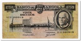 ANGOLA,20 ESCUDOS,1962,P.92,aVF - Angola