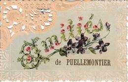 52 Amitiés De Puellemontier Carte Ajourée Et Fleurie ! - Other Municipalities