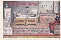 POLITIQUE . ALLEMAGNE . DAS ZENTRUM . Deutsche Sozialversicherung  . Karte 6 - Satiriques