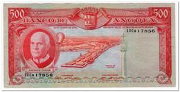 ANGOLA,500 ESCUDOS,1970,P.97,WASHED - Angola