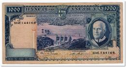 ANGOLA,1000 ESCUDOS,1970,P.98,VF,1 PINHOLE - Angola