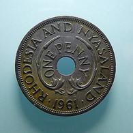 Rhodesia And Nyasaland 1 Penny 1961 - Rhodesien