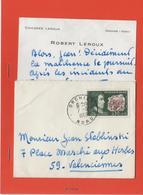 M41 COURRIER DU  CYCLISTE JEAN STABLINSKI  POUR  CHICOREE LEROUX  ROBERT 1968 - Vieux Papiers